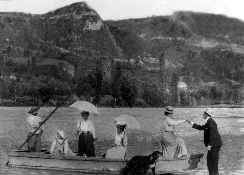 Traversée de l'Arve à la Perrine en 1904