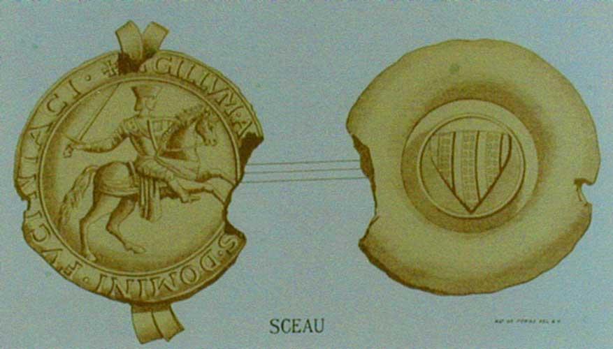 SCEAU D'AYMON,<br /> SIRE DE FAUCIGNY 1221